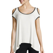 Bisou Bisou® Cold-Shoulder Sharkbite Top