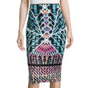 Bisou Bisou® Printed Scuba Skirt