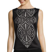 Bisou Bisou® Laser-Cut Scuba Top