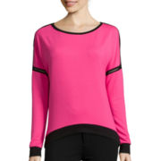 Bisou Bisou® Sweater Mesh Drop-Shoulder Sweater