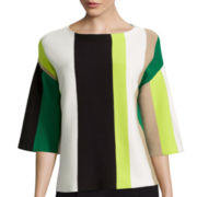 Worthington® Vertical Striped Wide-Sleeve Sweater - Tall