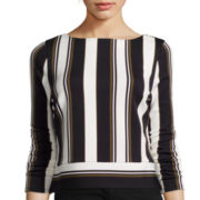 Worthington® Long-Sleeve Stripe Top