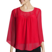 Alyx® Lace Sweetheart Angel Sleeve Top