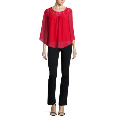 jcpenney.com | Alyx® Lace Sweetheart Angel Sleeve Top or Slim Millennium Pants