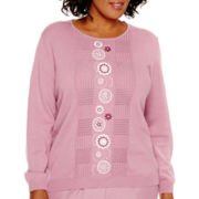 Alfred Dunner® Vienna Long-Sleeve Embroidered Sweater