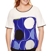 Worthington® Short-Sleeve Colorblock T-Shirt - Plus