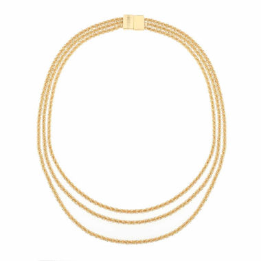 jcpenney.com | Monet Jewelry Womens Goldtone Three Row Collar Necklace
