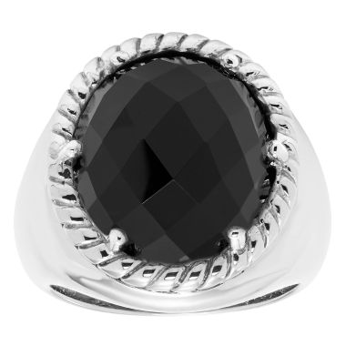 jcpenney.com | Womens Black Onyx Sterling Silver Cocktail Ring