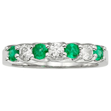 jcpenney.com | 1/3 CT. T.W. Green Emerald 14K Gold Band