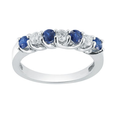 jcpenney.com | Womens 1/3 CT. T.W. Blue Sapphire 14K Gold Band