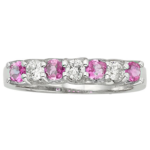 Womens 1/3 CT. T.W. Pink Sapphire 14K Gold Band