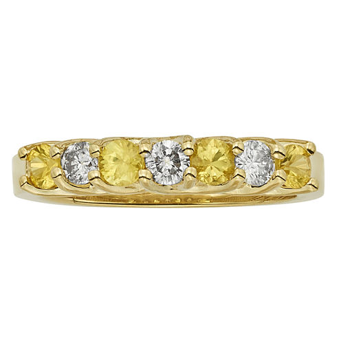 Womens 1/3 CT. T.W. Yellow Sapphire 14K Gold Band