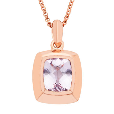 jcpenney.com | Womens Pink Amethyst Gold Over Silver Pendant Necklace