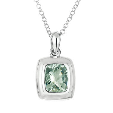 jcpenney.com | Womens Green Amethyst Sterling Silver Pendant Necklace