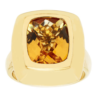 jcpenney.com | Womens Orange Citrine Gold Over Silver Cocktail Ring