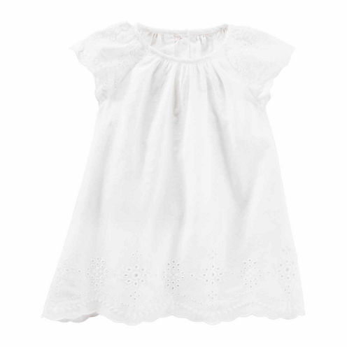 Oshkosh Sleeveless Cap Sleeve Babydoll Dress - Baby