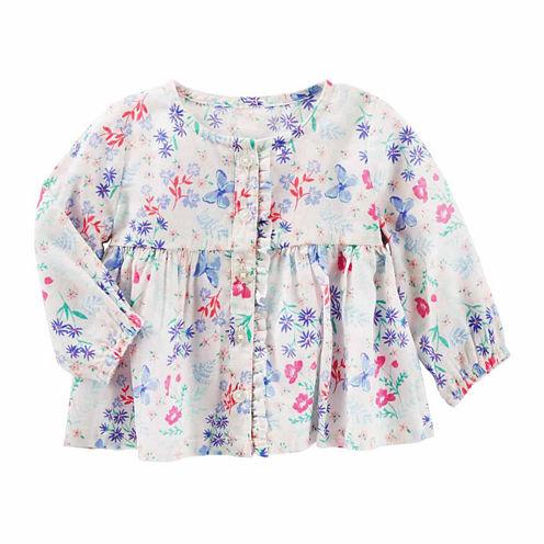 Oshkosh Long Sleeve T-Shirt-Baby Girls