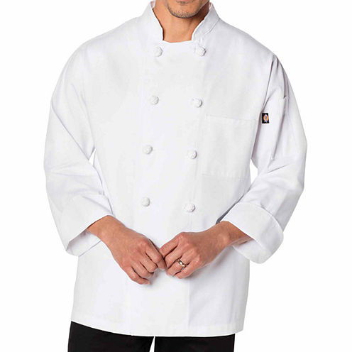 Dickies Unisex Knot Button Chef Coat - Big