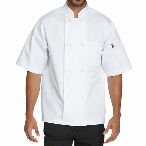 Dickies Unisex Short Sleeve Classic Knot Button Chef Coat - Big