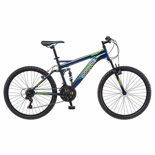 "Mongoose Griffin 24"" Boys Full Suspension Mountain Bike"