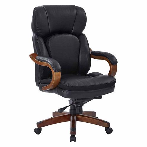 Van Buren Bonded Leather Knee Tilt Executive Chair