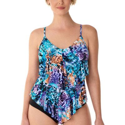 45e6ad30344 Vanishing Act By Magic Brands Control Animal Tankini Swimsuit Top ...
