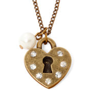 Messages from the Heart® by Sandra Magsamen® Lock Pendant Necklace