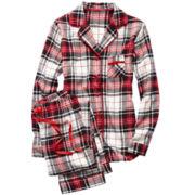 Liz Claiborne® Flannel Long-Sleeve Pajama Set