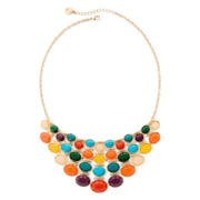 Liz Claiborne® Multicolor Gold-Tone Drama Necklace