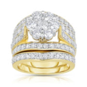 3 CT. T.W. Diamond 14K Yellow Gold Bridal Ring Set