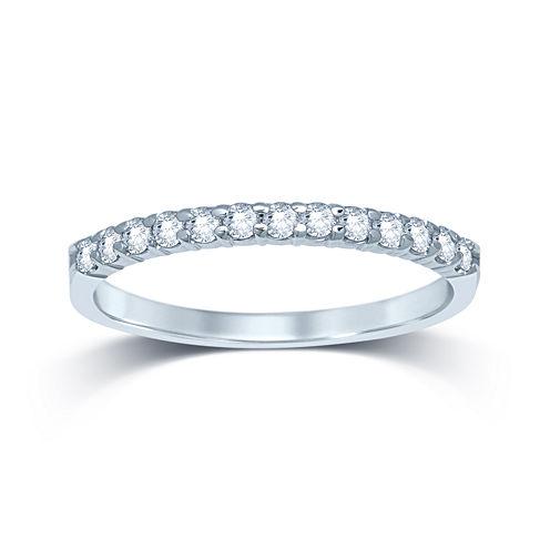 1/4 CT. T.W. Diamond 14K White Gold Band
