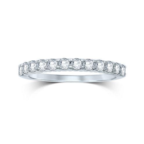 1/2 CT. T.W. Diamond 14K White Gold Band