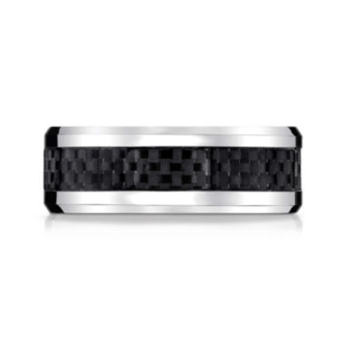 jcpenney.com |  Mens Cobalt with Carbon Fiber Inlay 8mm Wedding Band