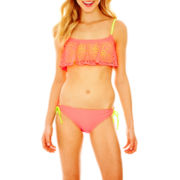 Arizona Flounce Swim Top or Sweat Pea Hipster Bottoms - Juniors