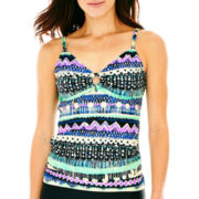 St. John's Bay® Ring-Front Tankini Swim Top