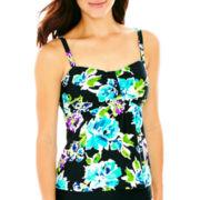 St. John's Bay® Floral Print Tankini Swim Top