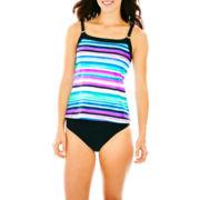 St. John's Bay® Camikini Swim Top or High-Waist Bottoms