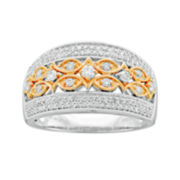 1/2 CT. T.W. Diamond Two-Tone Vintage Ring