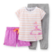 Carter's® 3-pc. Pajama Set – Girls 12-24m