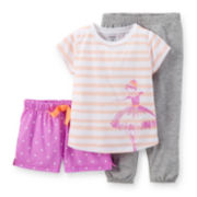 Carter's® 3-pc. Pajama Set - Girls 2t-5t