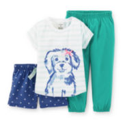 Carter's® 3-pc. Pajama Set – Girls 2t-5t