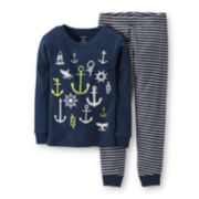 Carter's® 2-pc. Long-Sleeve Glow-in-the-Dark Pajama Set - Boys 4-7