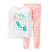 Carter's® 2-pc. Long-Sleeve Mermaid Pajama Set - Girls 4-7