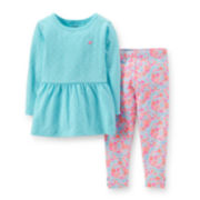 Carter's® Long-Sleeve Peplum Top and Leggings Set - Girls 2t-5t