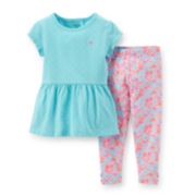 Carter's® Short-Sleeve Peplum Top and Leggings Set - Girls newborn-24m
