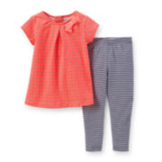 Carter's® 2-pc. Cap-Sleeve Top and Leggings Set – Girls newborn-24m