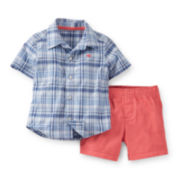 Carter's® Button-Front Shirt and Twill Shorts Set – Boys newborn-24m