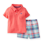 Carter's® Short-Sleeve Polo and Shorts Set – Boys newborn-24m