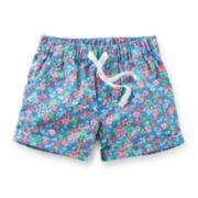 Carter's® Floral-Print Poplin Shorts - Girls 6m-24m