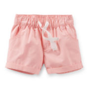 Carter's® Pink Poplin Shorts - Girls 2t-5t